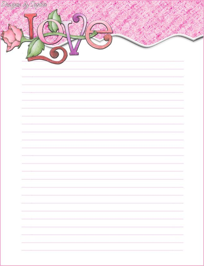 Printable Valentine Stationary
