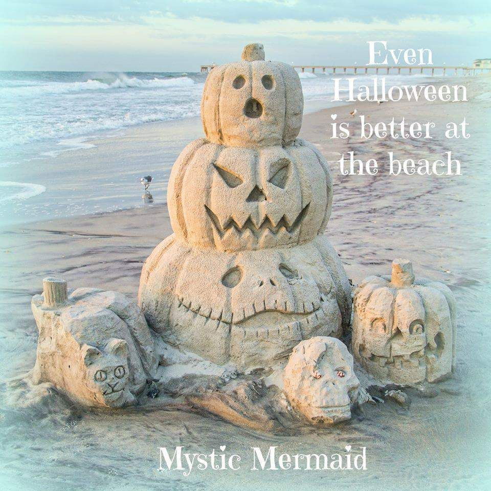 Halloween Sandcastles on the Beach!  Call me to assist you in buying or selling your castle!!