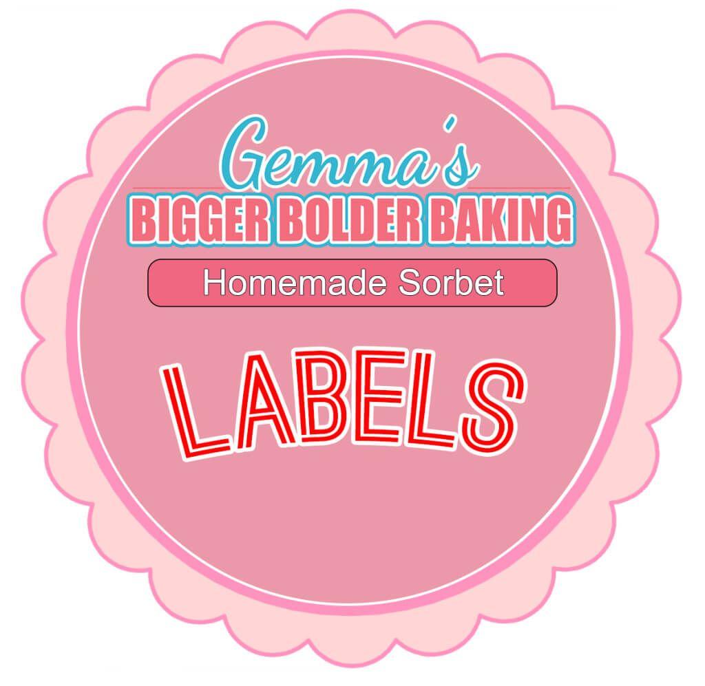 Homemade Sorbet Labels | Homemade sorbet, Sorbet and Homemade