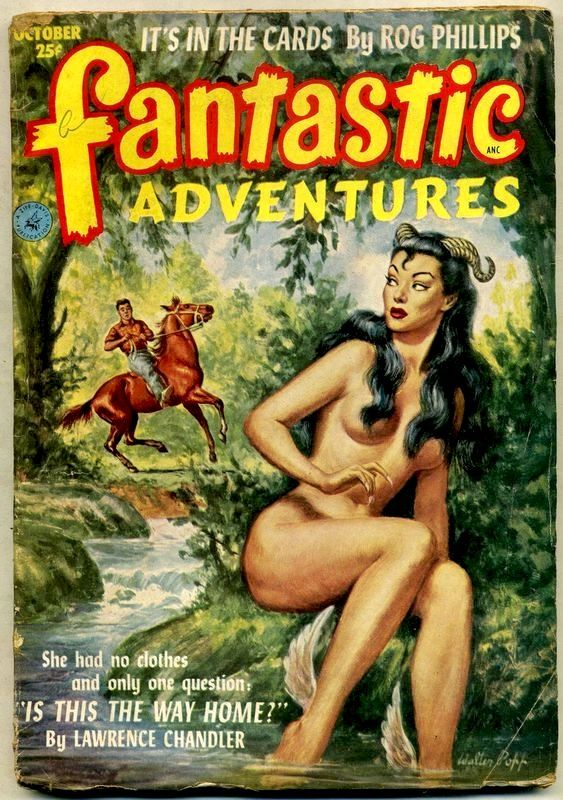 Erotic pulp art blonde tits