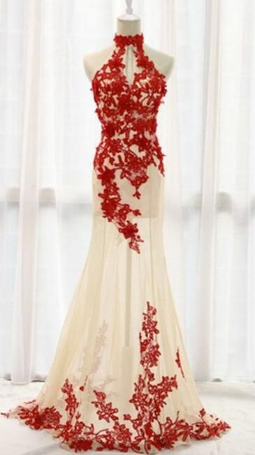 Long Formal Gown,Lace Prom Dress,Cheap Prom Dress,Mermaid Prom ...