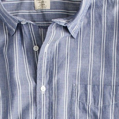 Lightweight chambray shirt in Yountville stripe