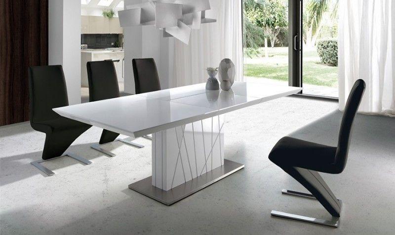 Mesa de comedor extensible blanca Diana | Comprar Mesas de ...