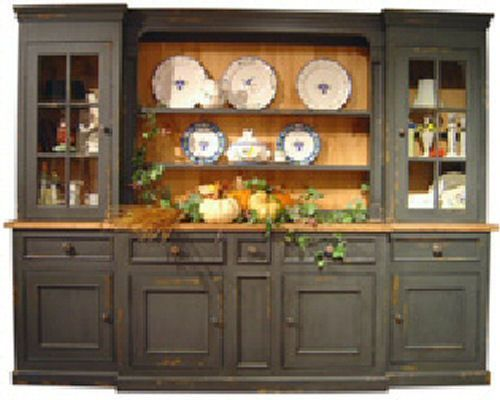 Genial Monmouth Hutch Large China Cabinet Country Cottage Style 9 Ft Distressed  New | EBay