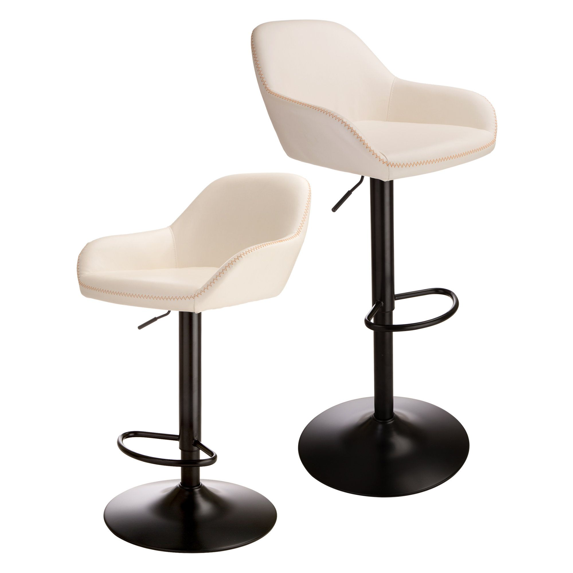 Glitzhome Mid Century Bar Stool With Back Support Adjustable Leather Counter Height Home Swivel Bar Stools D In 2020 Swivel Bar Stools Bar Stools Adjustable Bar Stools