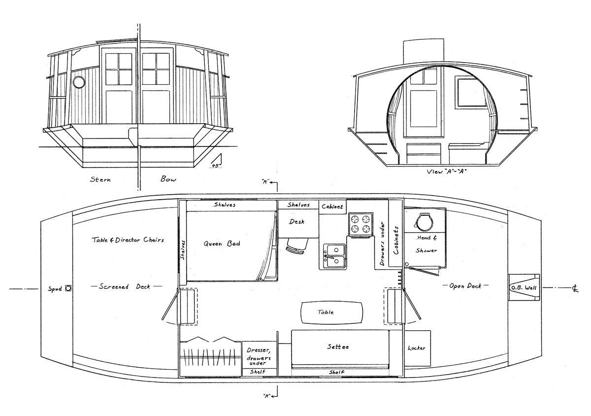 Harry Bryan S Shanty Boat Is Sweet But Boat Plans Shanty Boat