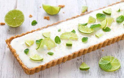 Tarte Mojito une recette estivale et rafraîchissante facile et simple à  réaliser avec votre Thermomix pour un dessert d\u0027été.