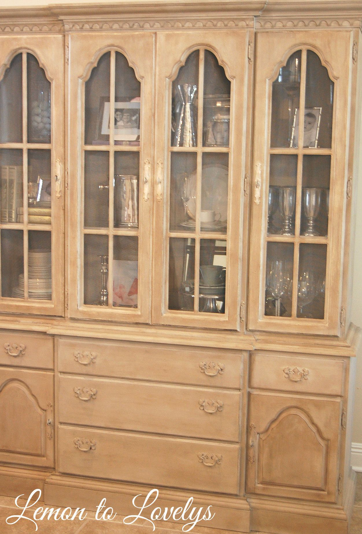 China Cabinet painted with CeCe Caldwell s Chalk Paint in Young