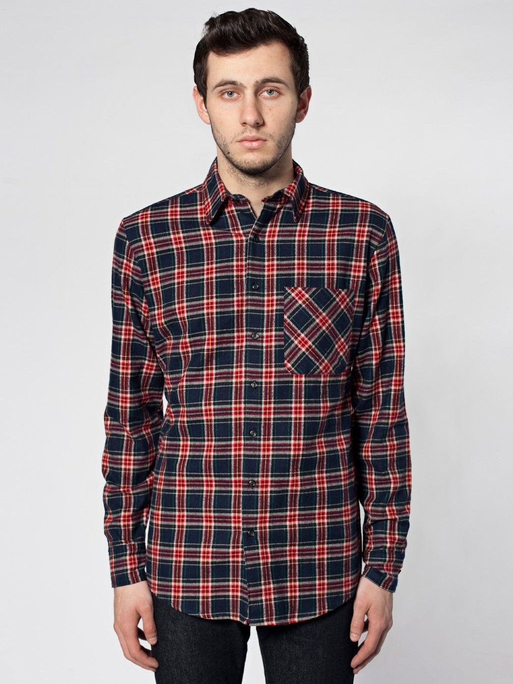 Flannel long sleeve button up long sleeves men 39 s for Button up flannel shirts
