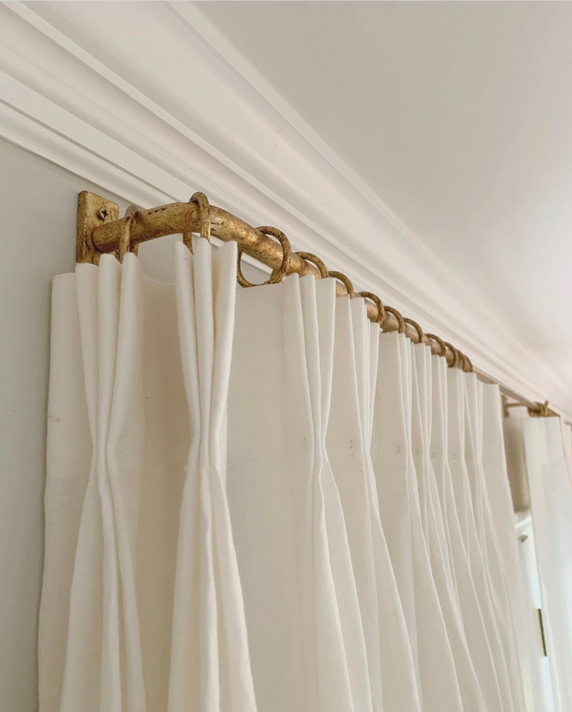 French Return Drapery Rod Gold Window Treatments Drapery