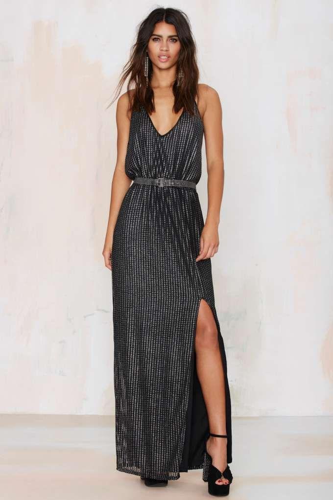 Glamorous Ecstatic Metallic Maxi Dress Night Fever Night Fever