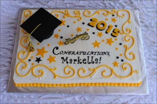Yellow Black Graduation Cake 1 Graduation Sheet Cakes
