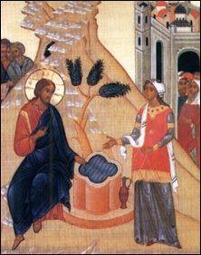 La Samaritana al pozzo di Sicar (Icona di Giovanni Mezzalira).