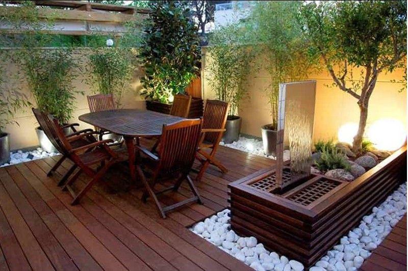 Suburban outdoor patio   Small patio design, Small ...