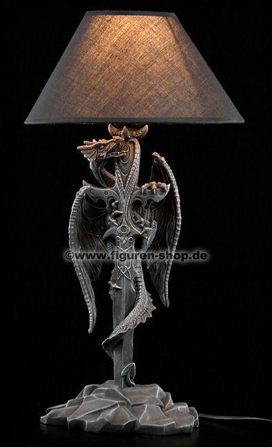 Gothic Lamp Dragon Details Zu Drachen Schwert Lampe Deko