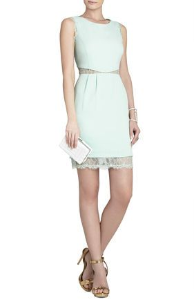 9e58f7384c90b3 BCBGMaxAzria Maud Boatneck Dress With Lace Back FRONT | Saving up ...