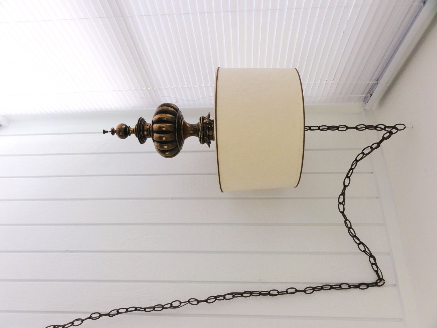 Nyp Sale Vintage Stiffel Swag Hanging Lamp W Original Shade Large And Heavy Antique Brass Pull Chain Two Bulb Retro Hangi Hanging Lamp Swag Light Stiffel