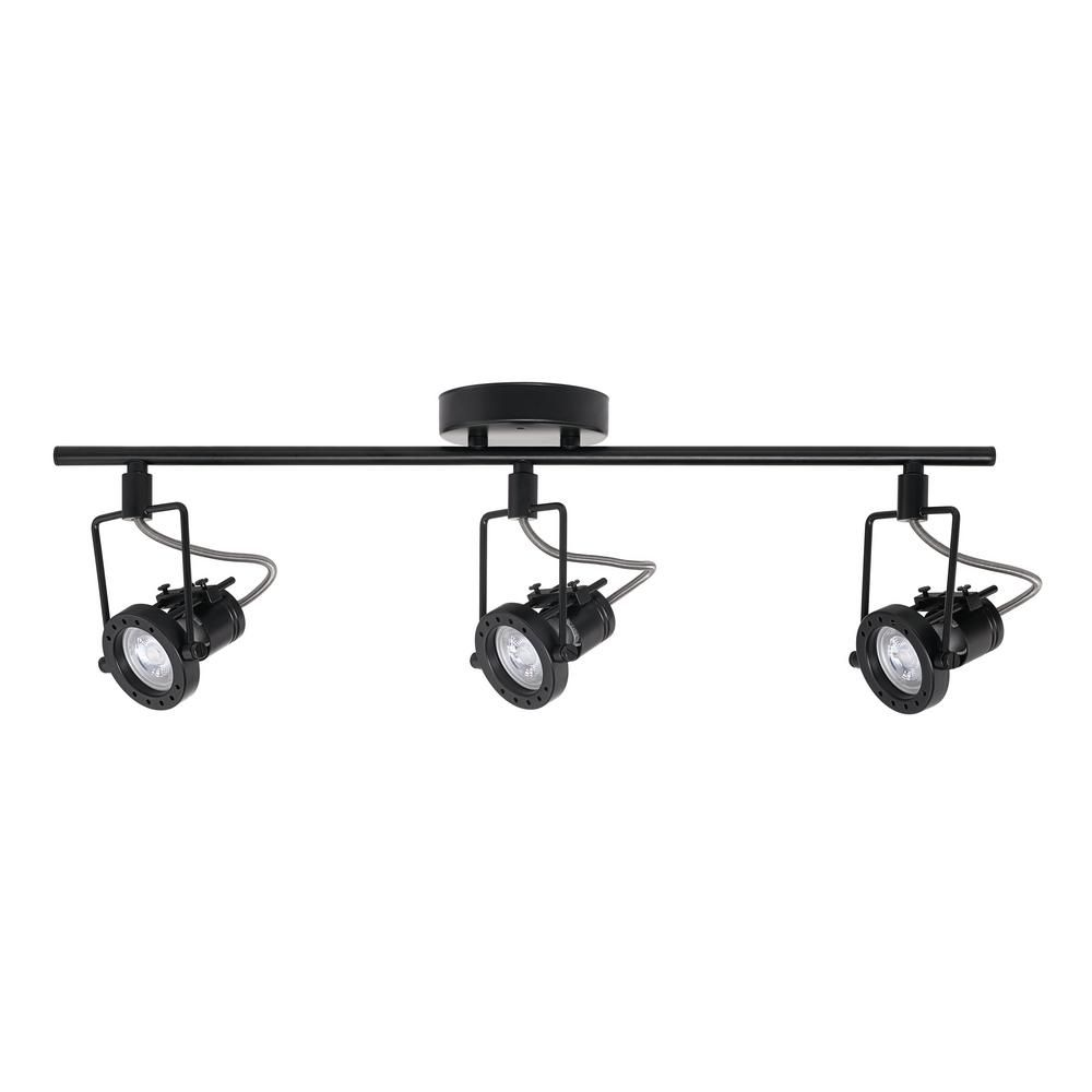 promo code 43bca a1ef1 Globe Electric Desmond Collection LED 3-Light Black Track ...