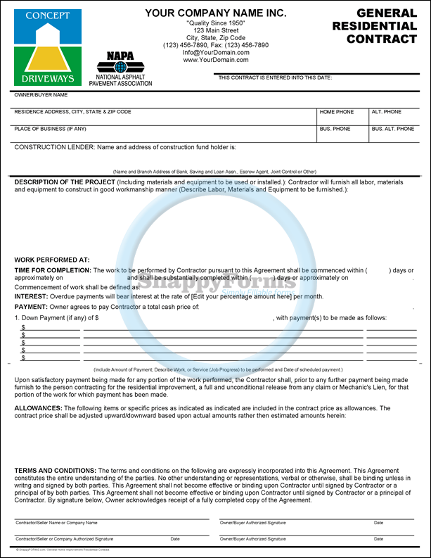 A General Contract For Paving Sales Repairs Paving Resurfacing