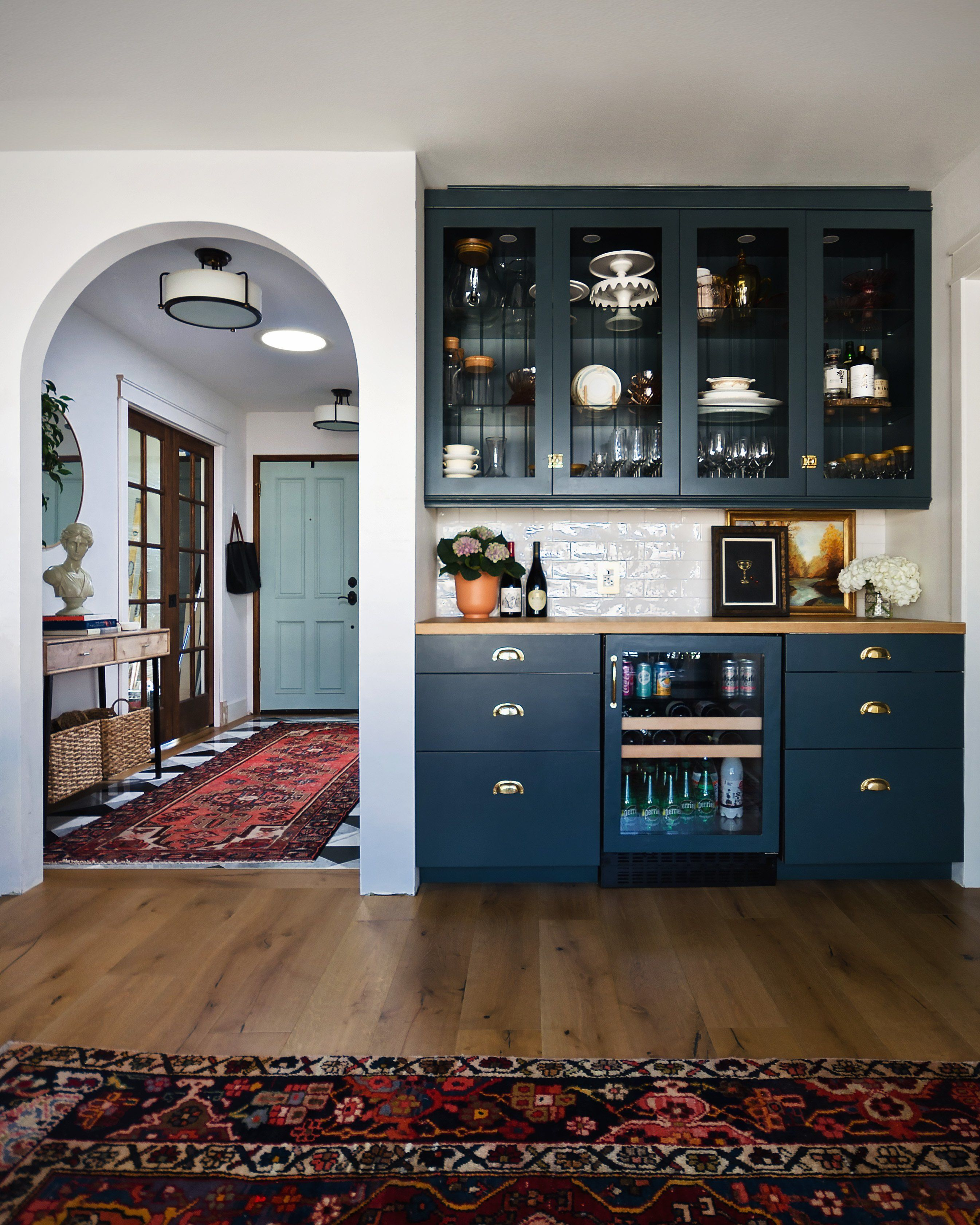 Navy Kitchen with a Stunning Built-in