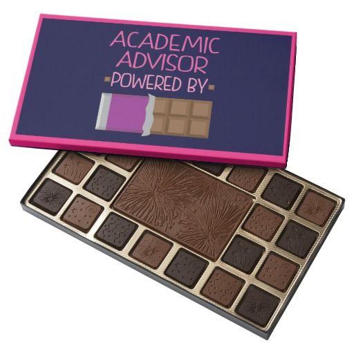 Academic Advisor Powered by Chocolate 45 piece box of chocolates #academicadvisor #chocolates
