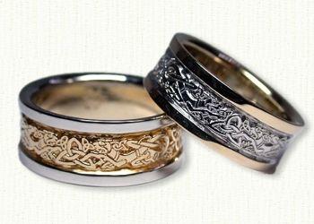Celtic Dragon Knot Wedding Rings Custom Celtic Wedding Rings At Best Prices