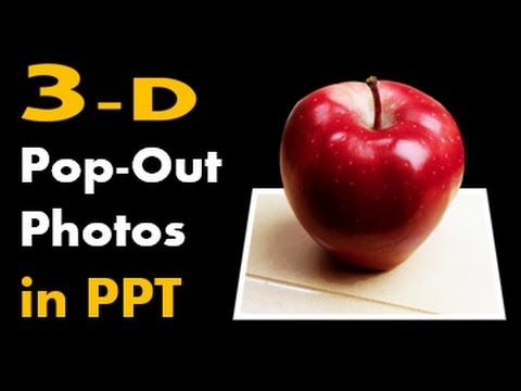 How to Make 3D Pop-out Photos in PowerPoint - Design Animation