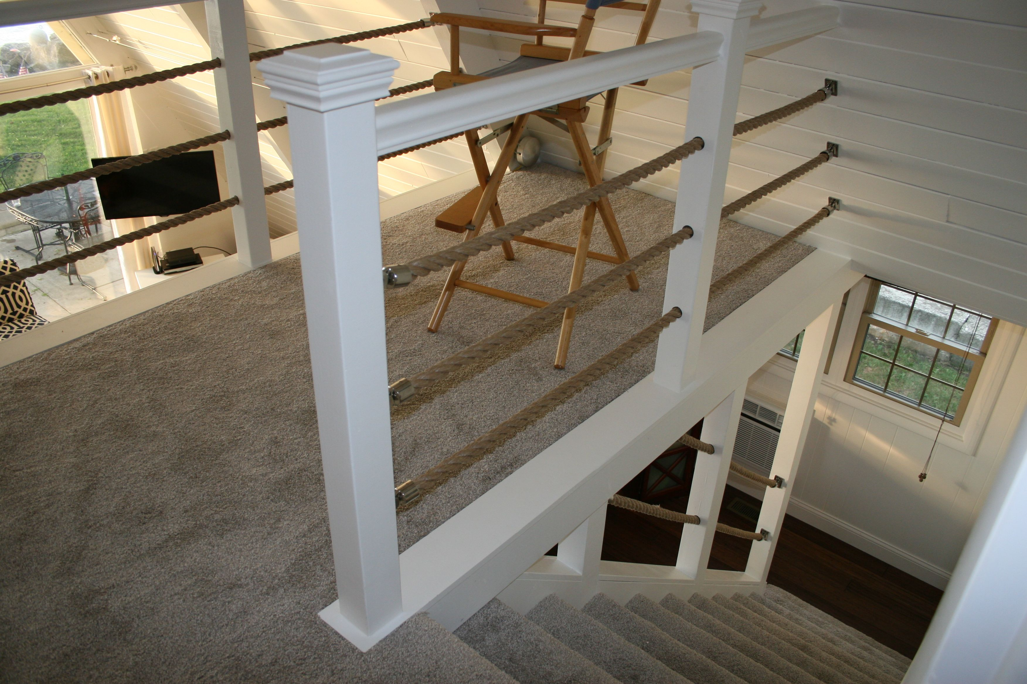 Nautical Rope Railing In 2019 Rope Railing Loft Railing