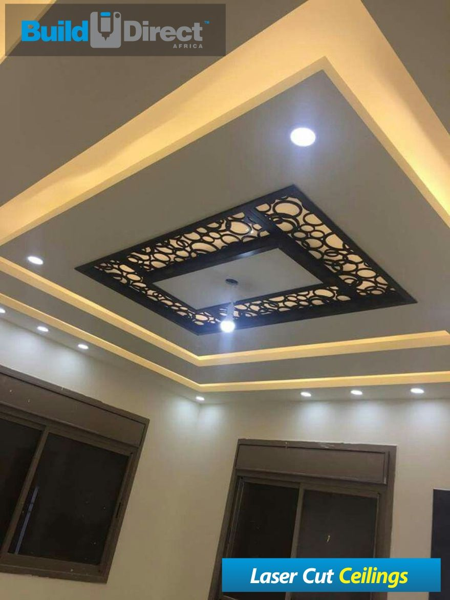 Pin by builddirect africa on laser cut ceilings in 2019 - Living room false ceiling designs ...