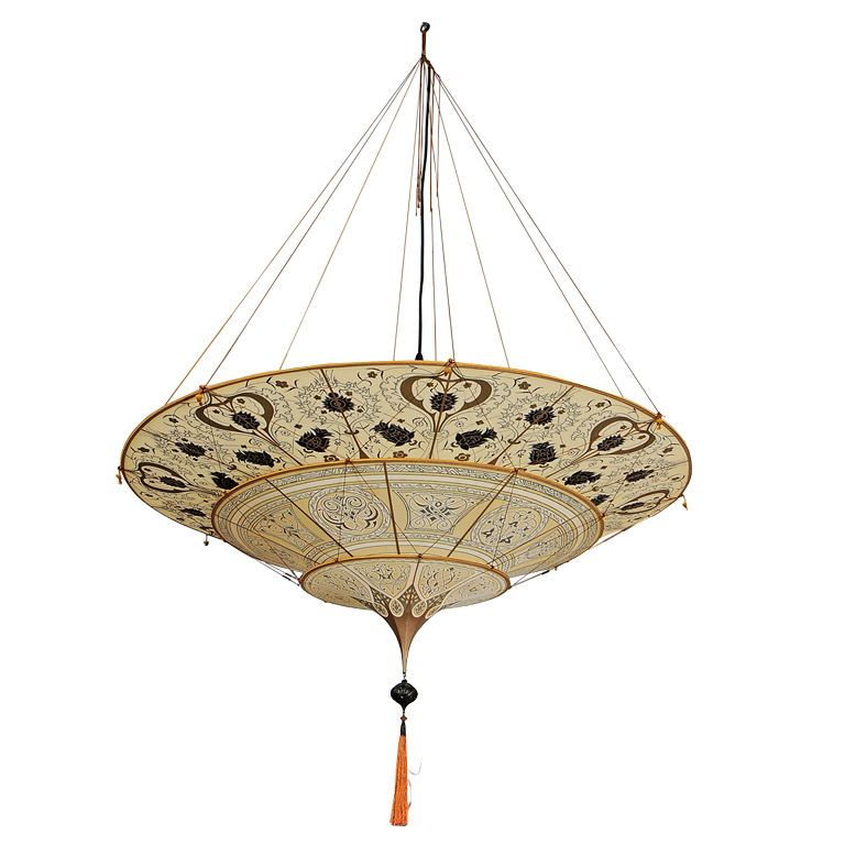 Monumental Fortuny Hanging Chandelier Fortuny Chandelier