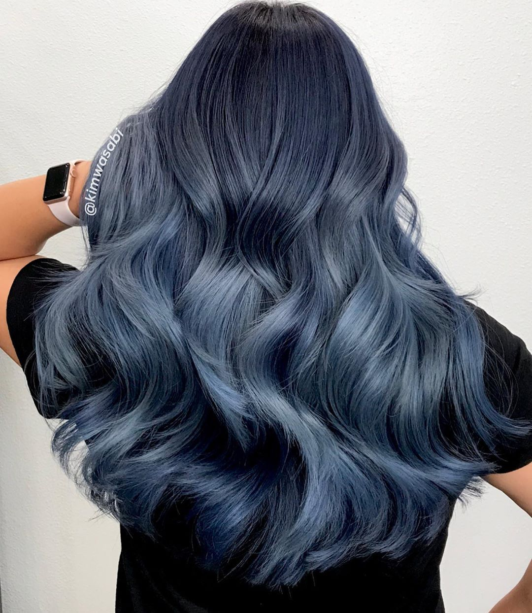 Kim Wasabi Color Using Guytang Mydentity In 2020 Light Blue Hair Light Blue Ombre Hair Blue Ombre Hair