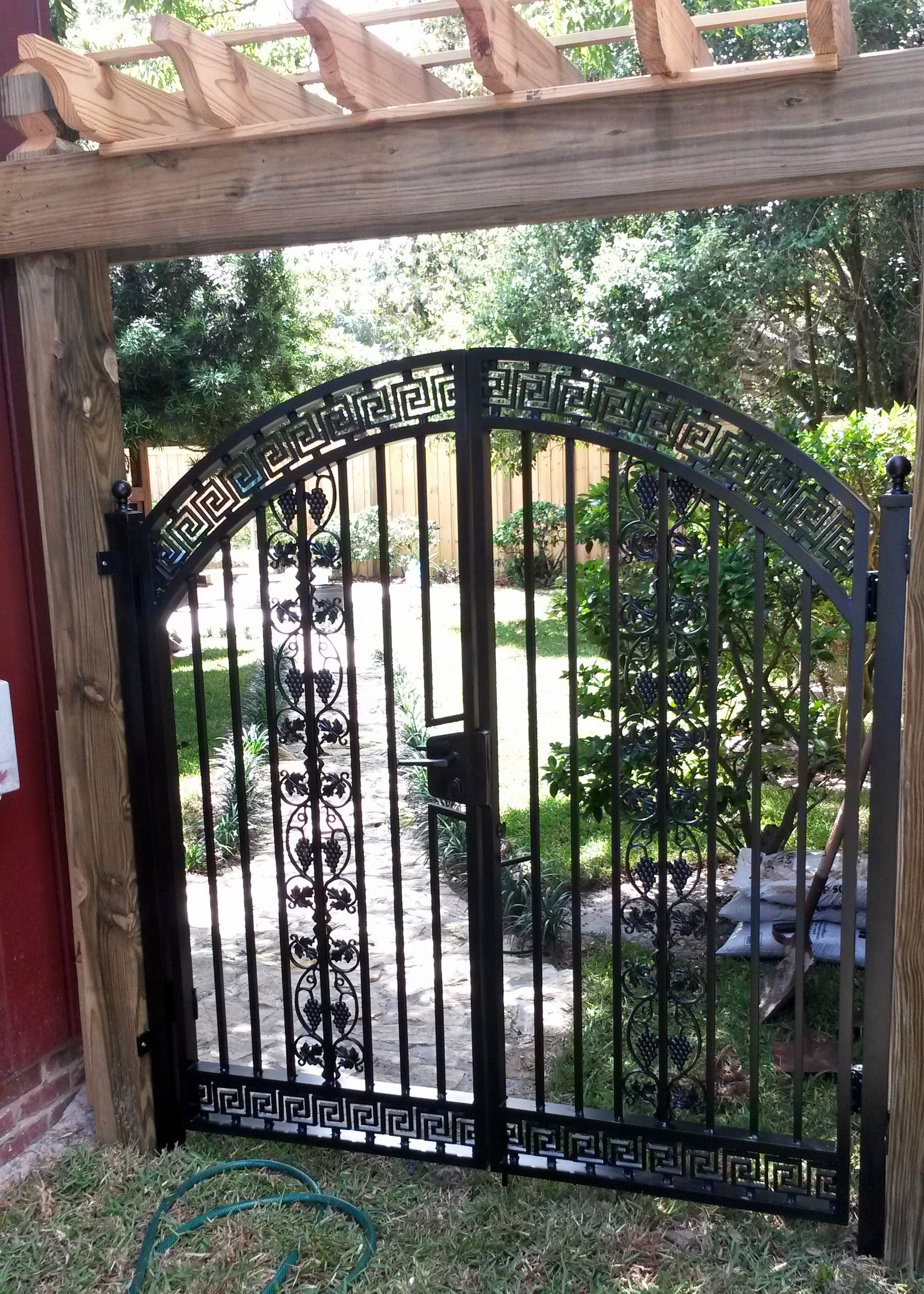 This Is An Asian Style Garden Gate. The Gate Has Self Closing Hinges And A