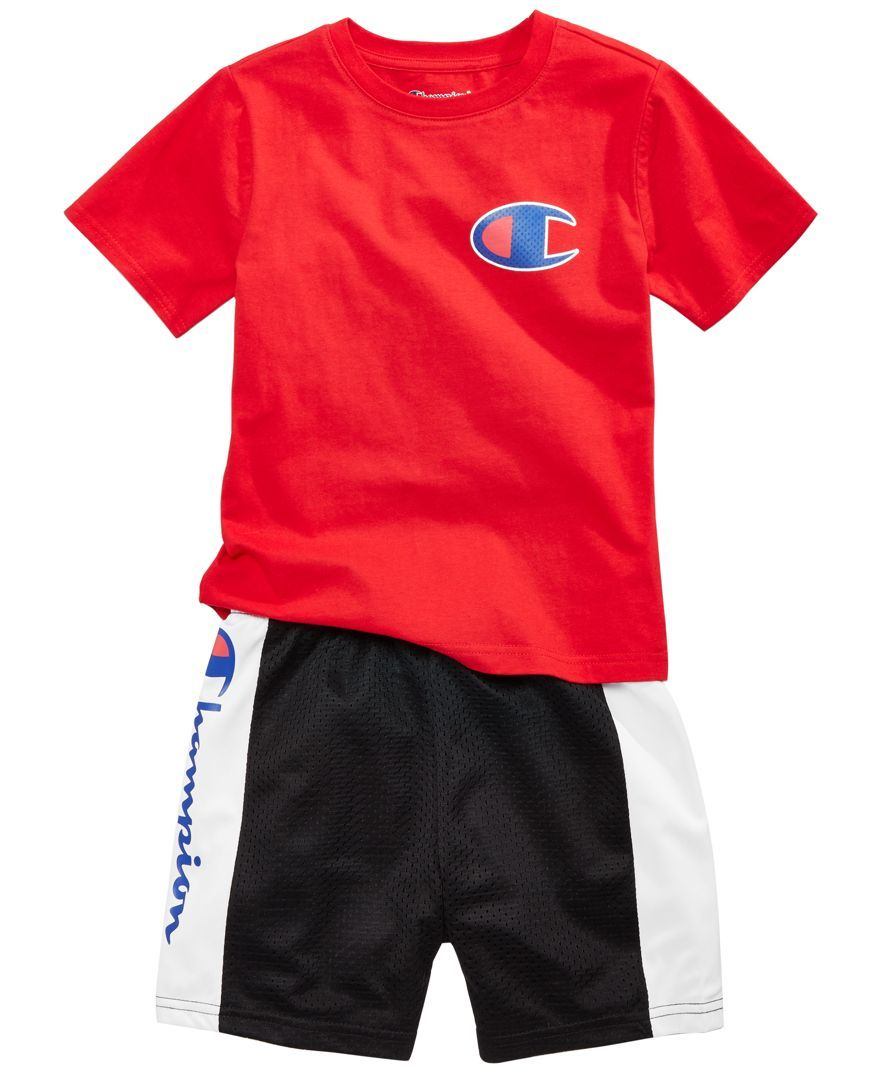 63d09fa6 Champion 2-Pc. Heritage T-Shirt & Colorblocked Shorts Set, Toddler Boys