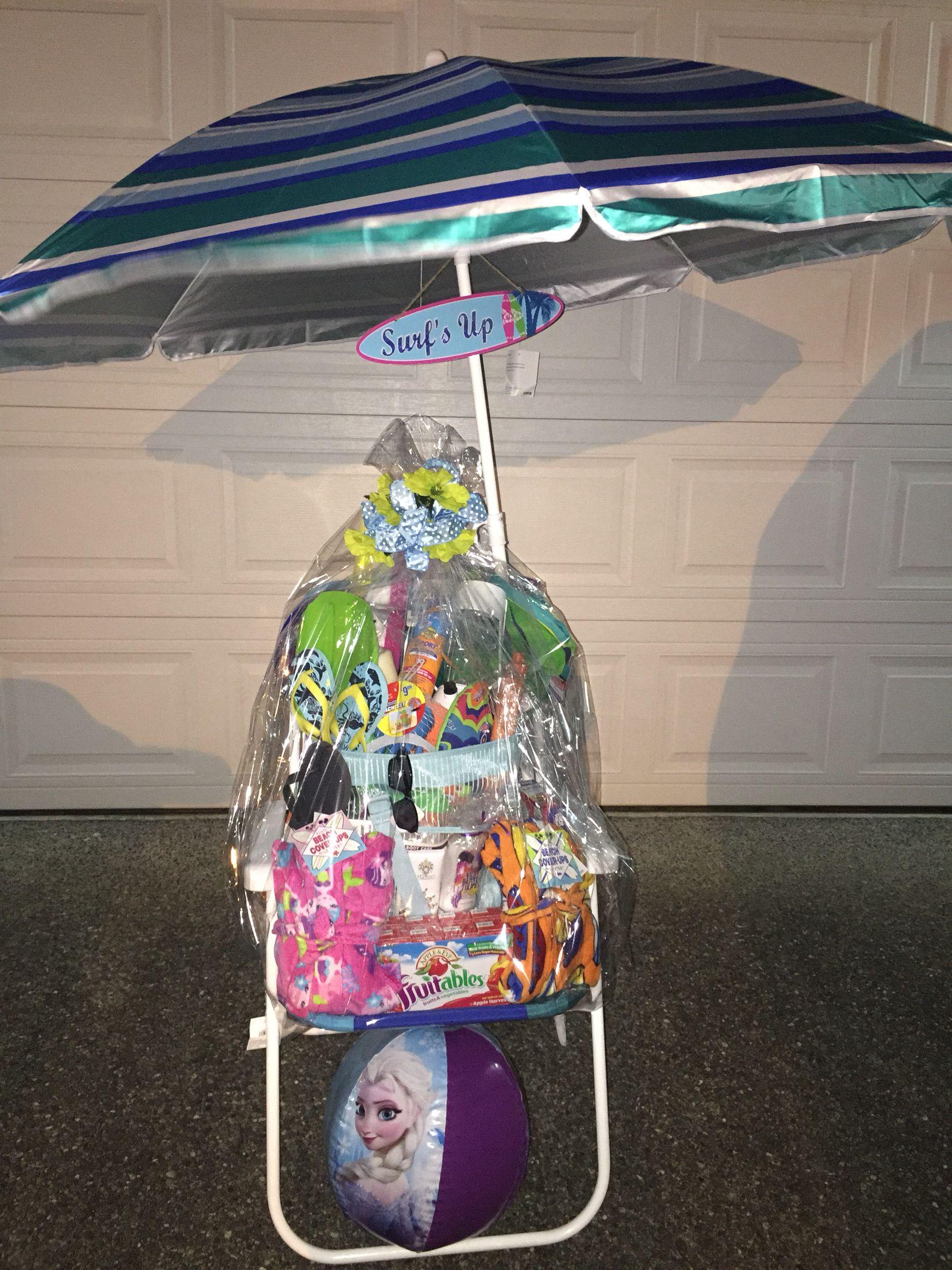 Beach themed raffle basket beach gift basket auction
