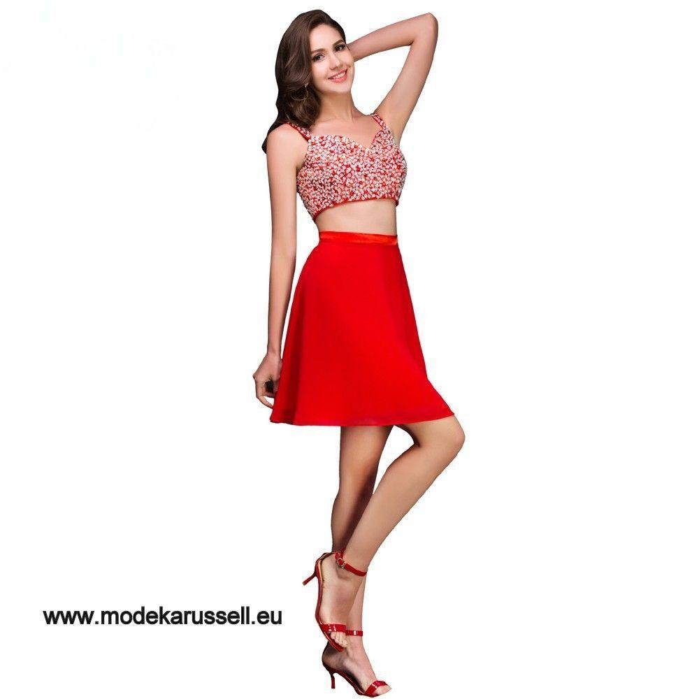 Sexy Cocktailkleid in Rot Zweiteilig | Rote Kleider online kaufen ...