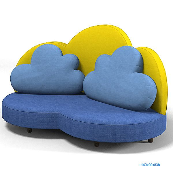 Haba 2924 Cloud 3d Max Haba 2924 Cloud Sofa Kid Children Seat