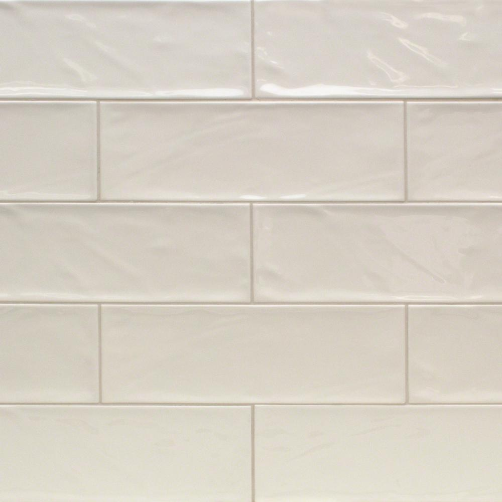 Ivy Hill Tile Pier Ivory 4 In X 12 In 6 Mm Polished Ceramic Subway Wall Tile 33 Piece 10 76 Sq Ft Box Ext3rd100455 The Home Depot Ceramic Subway Tile