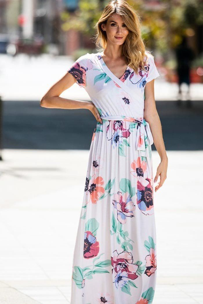 Pastel Floral Maxi Dress  dcd754c4a