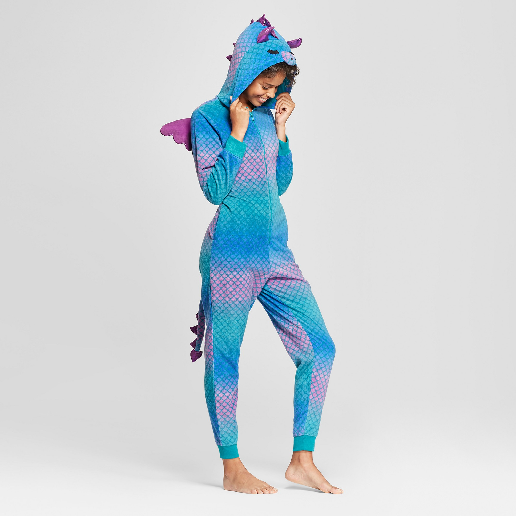 Women s Halloween Dragon Union Suit - Xhilaration Purple XL Xxl ... a93947789
