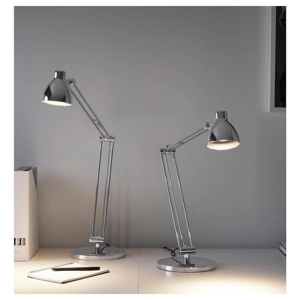 Antifoni Work Lamp Nickel Plated Ikea In 2020 Work Lamp Lamp Clip On Desk Lamp