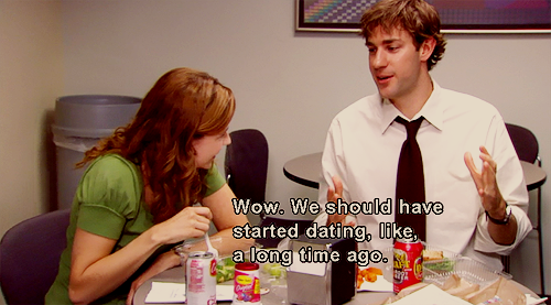 Girl dating jim in the office
