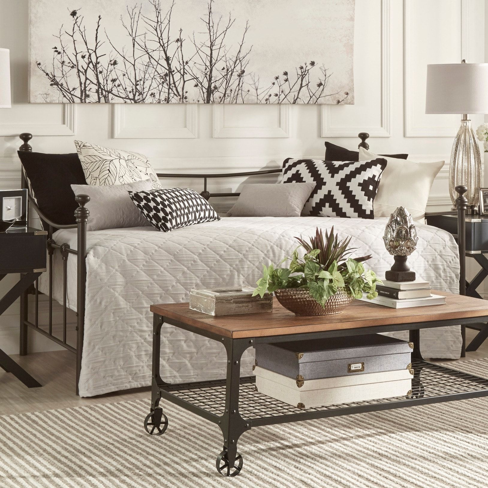 Xander Dark Brown Steel Metal Daybed by iNSPIRE Q Classic | Overstock.com  Shopping -