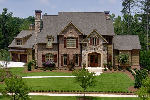 Mitch ginn design chris parrott homes stone and brick homes homes homes for Home exteriors fayetteville nc