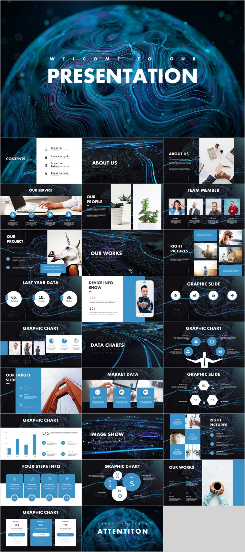 Best Market Design business PowerPoint templates