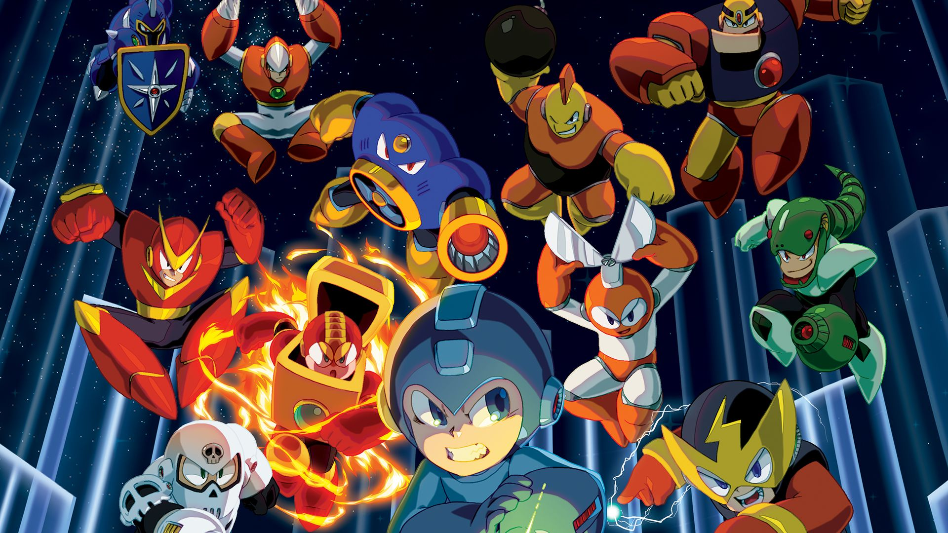 Mega Man Legacy Collection Wallpaper 1 Mega Man Legacy Mega Man Collage Poster
