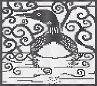 Ravelry: Spirit Loon Square Chart pattern by Melanie Nordberg