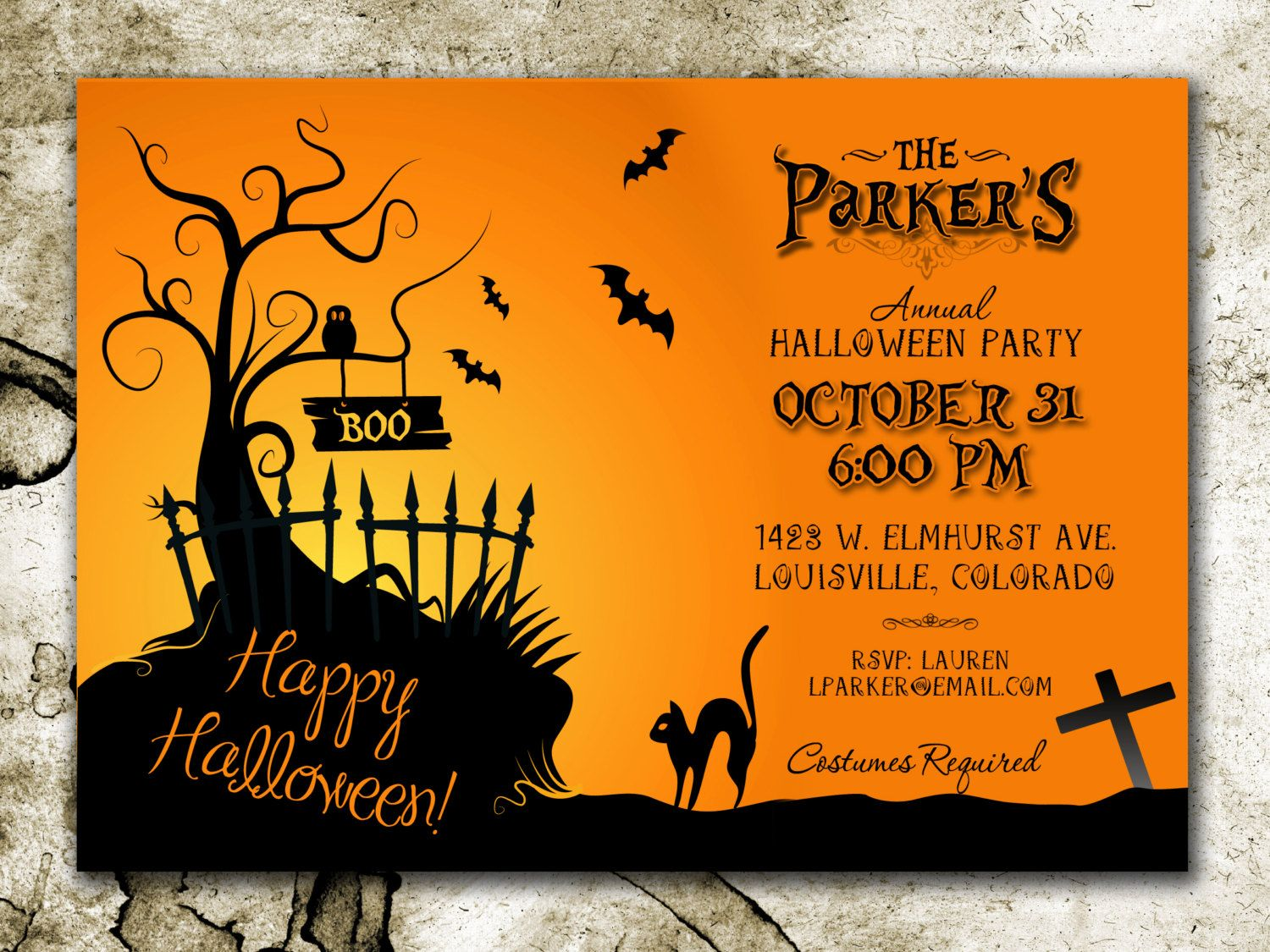 Halloween Party Invitation *DIGITAL DOWNLOAD | Halloween party ...
