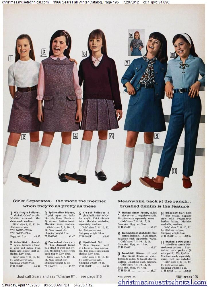 1966 Sears Fall Winter Catalog, Page 195 - Christm