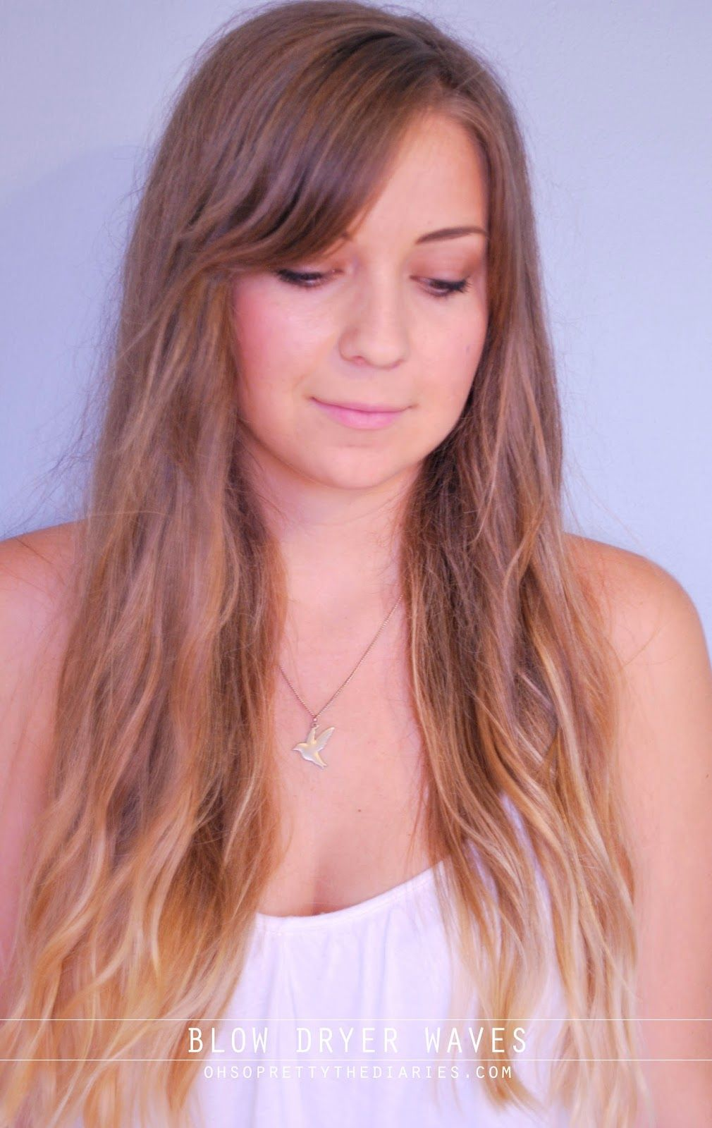 Get waves easily with a blow dryer easy hair tutorial hur