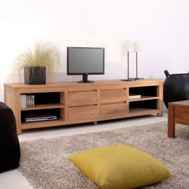 Meuble Tv En Teck 200 Patio Tikamoon Muebles Para Tv Muebles Tv